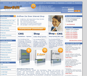 Online Shop Software Storedit screenshot